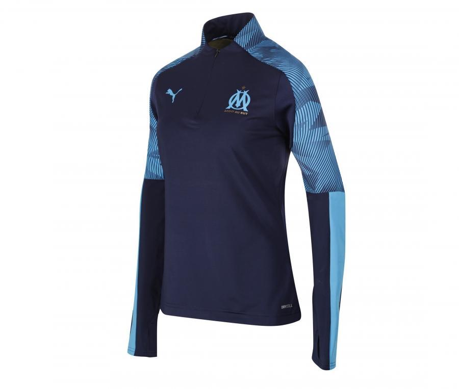 Camiseta manga larga futbol OM Azul Mujer