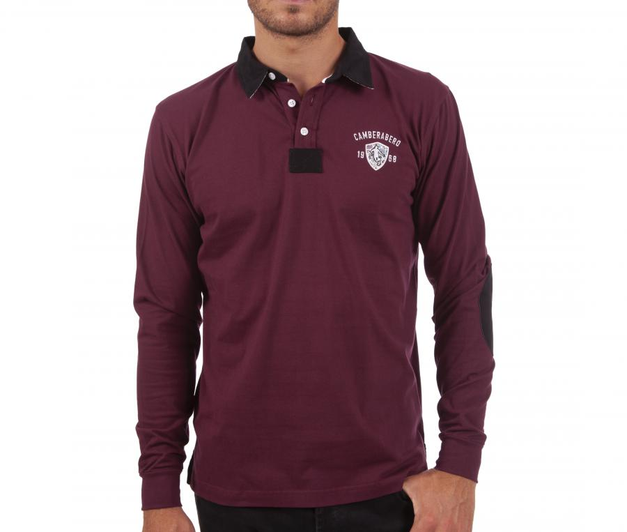 Polo Manches Longues Camberabero Old School Rouge