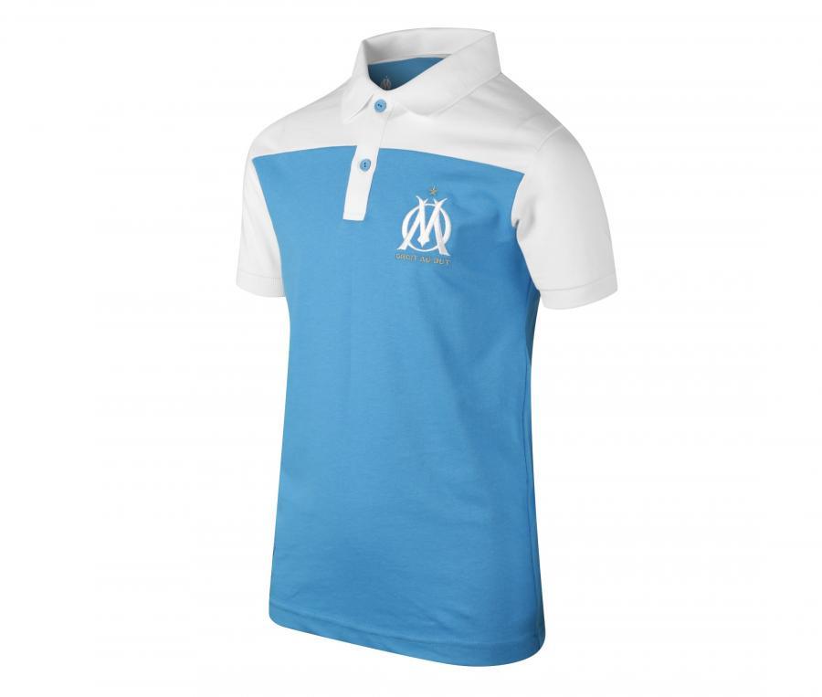 Polo OM Bleu/Blanc Junior