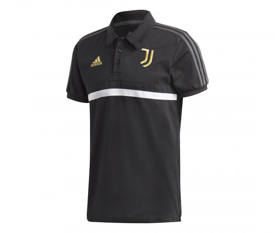 Polo Juventus 3 Stripes Noir