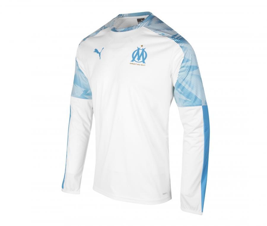 OM Mens's Training Sweater White/Blue