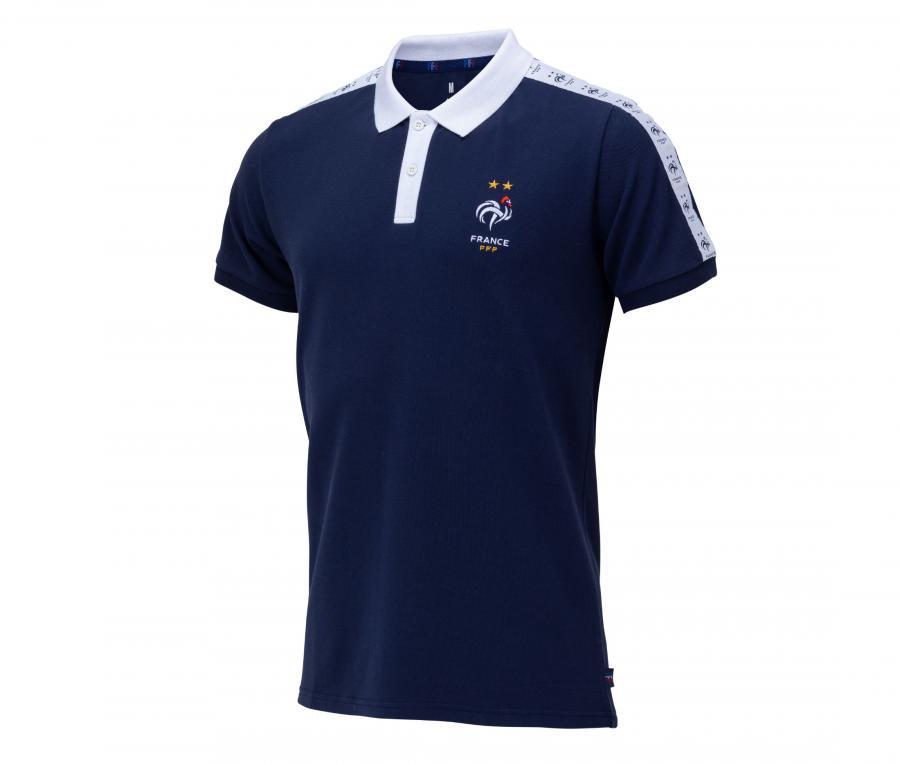 Polo France Stripes Fan Bleu