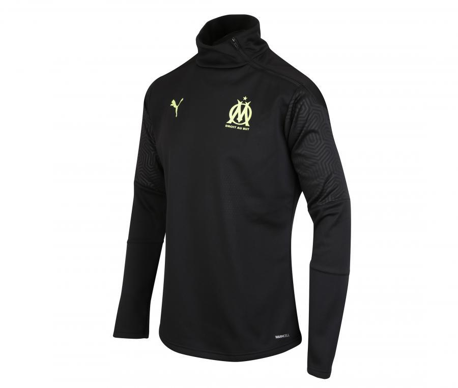 Camiseta manga larga futbol OM Fleece Negro