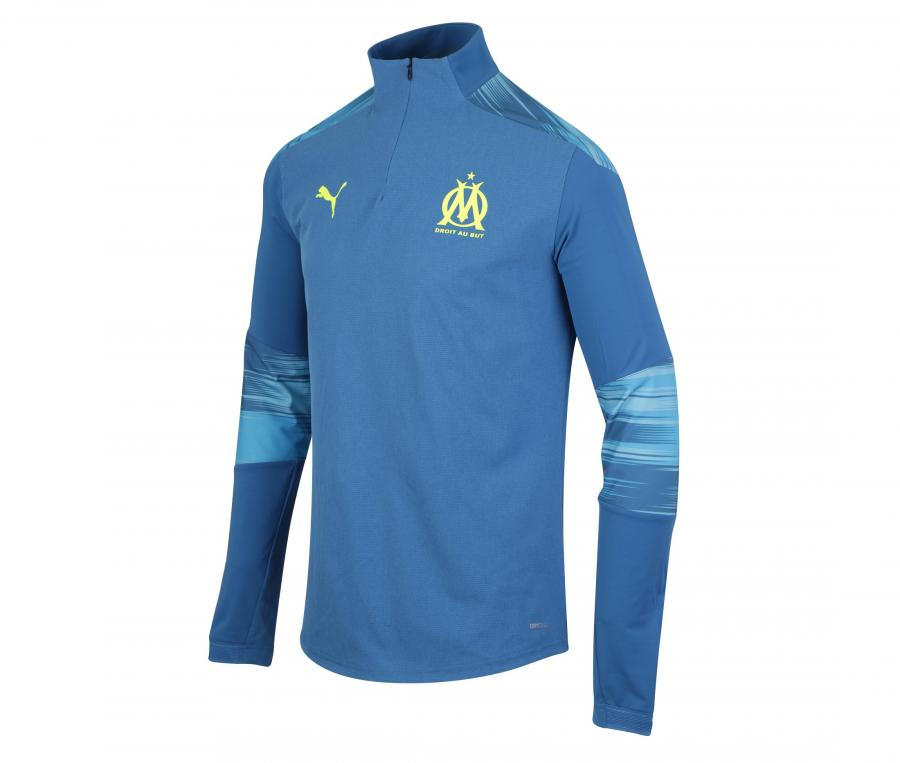 Camiseta manga larga fútbol OM Stadium Azul