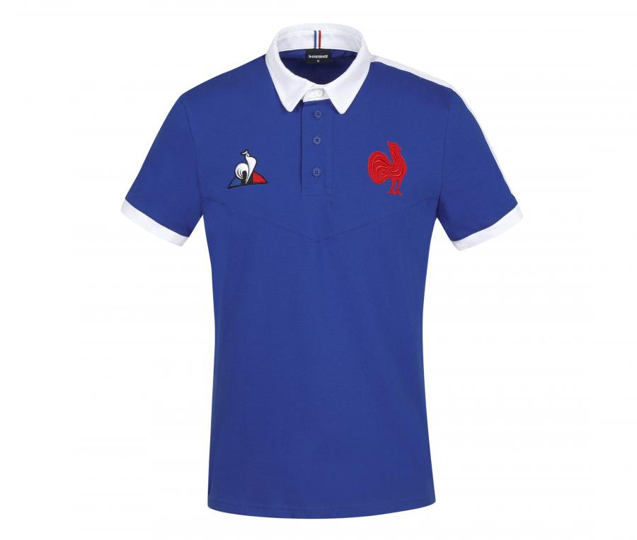 Polo France Rugby Replica Bleu