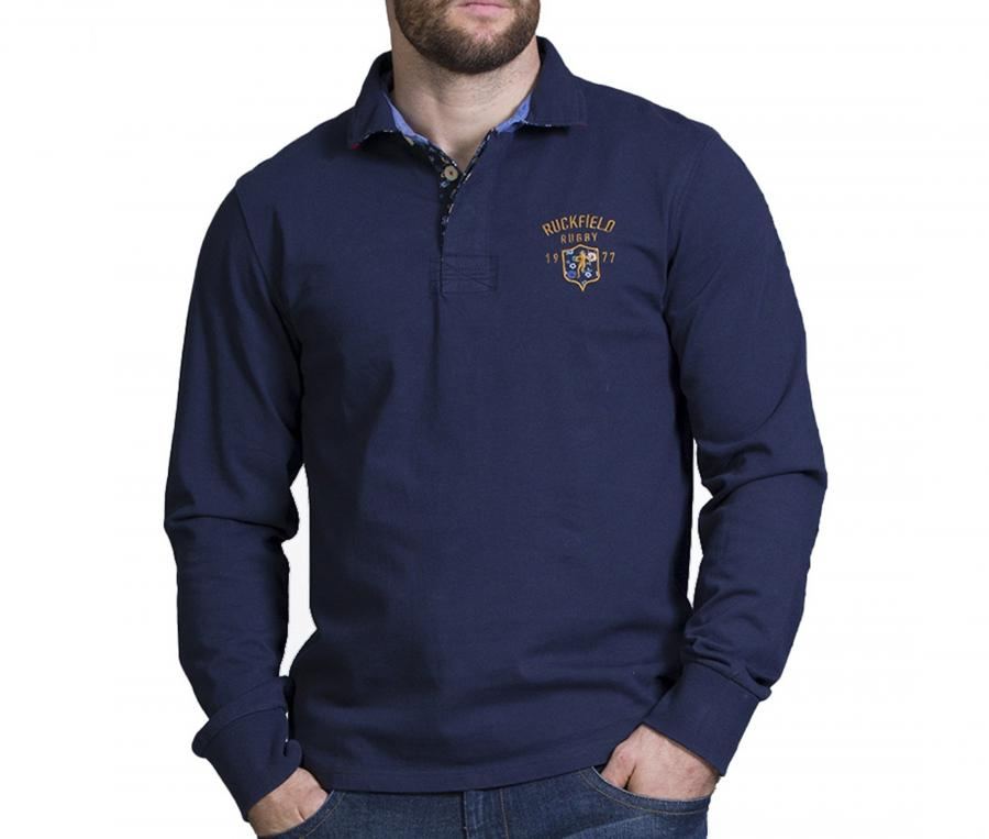 Polo Manches Longues Ruckfield Bleu