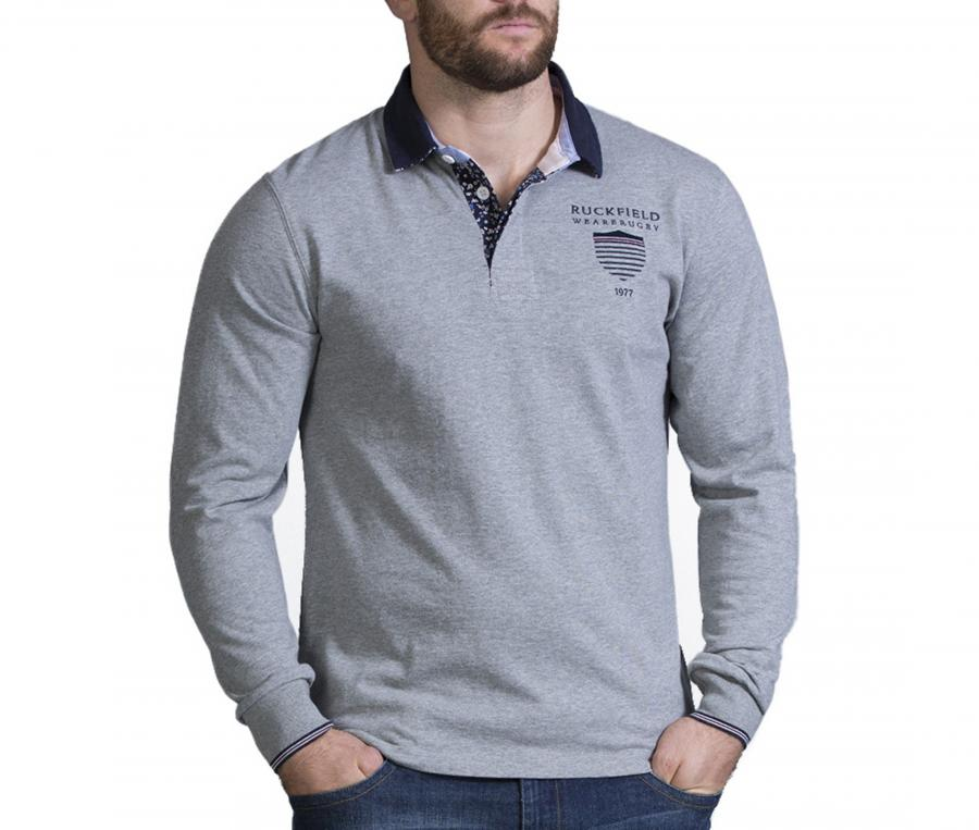 Polo Manches Longues Ruckfield Gris