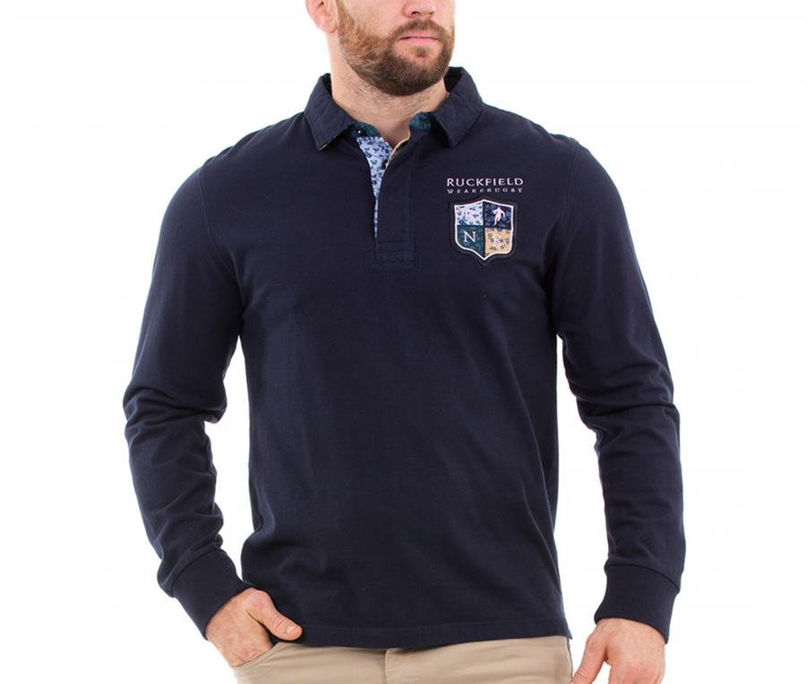 Polo Manches Longues Ruckfield We are Rugby Bleu
