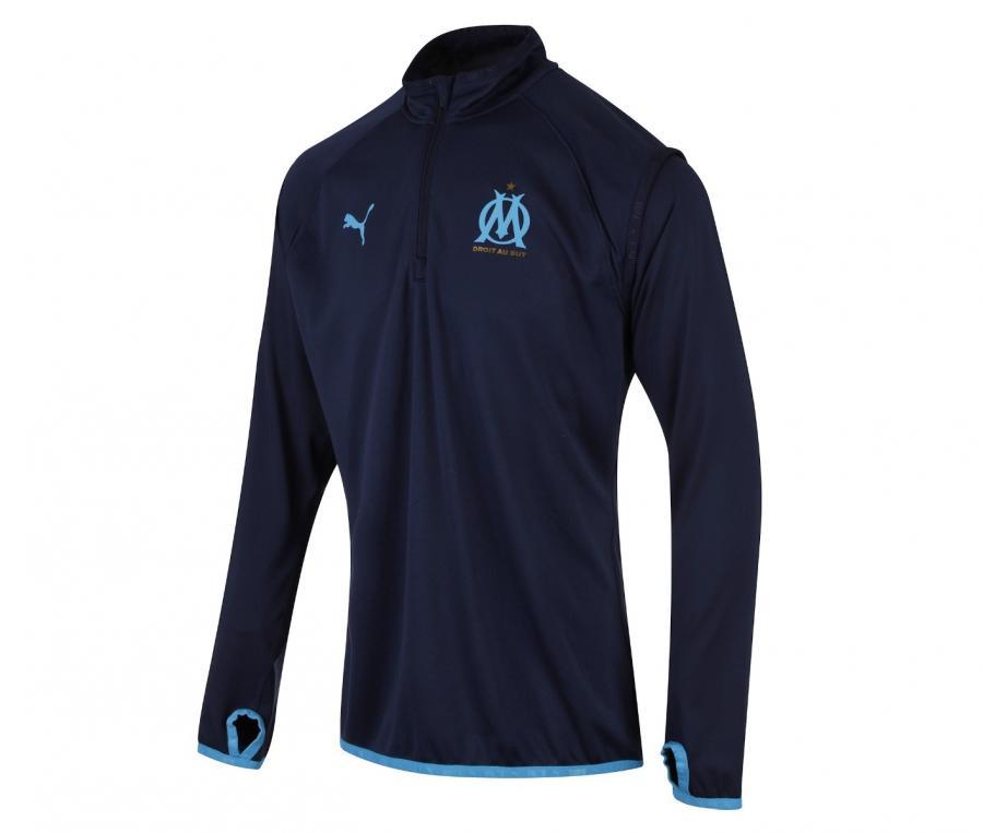 Camiseta manga larga fútbol OM Warmup Azul