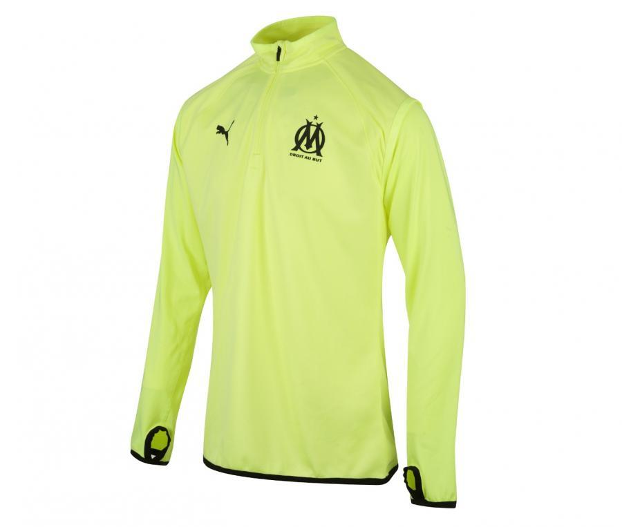 Camiseta manga larga fútbol OM Warmup Amarillo