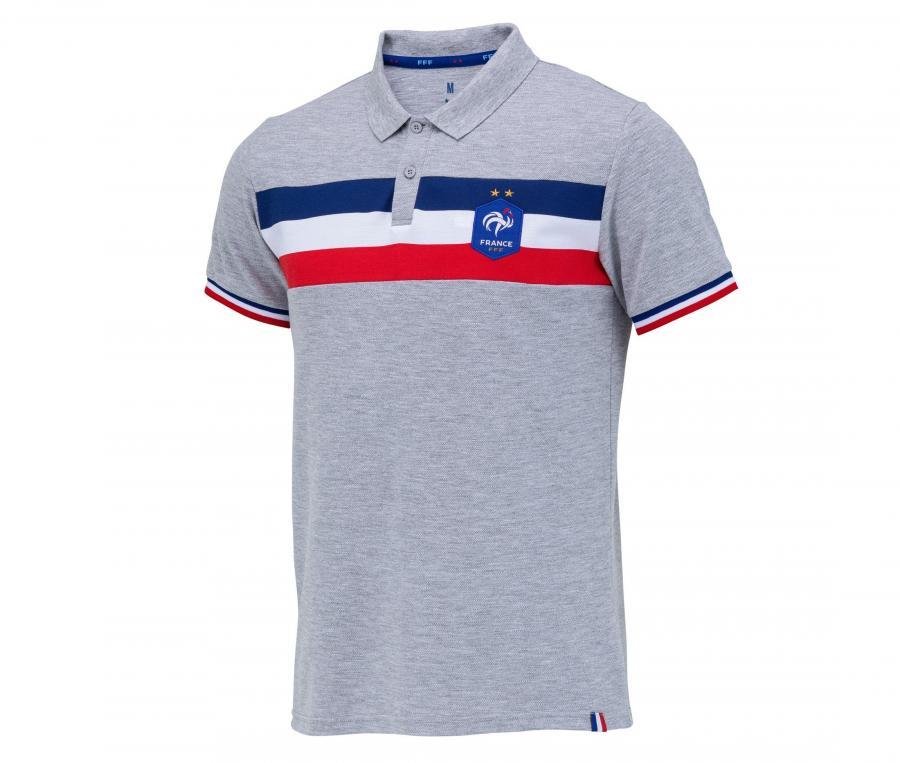 Polo France Fan Gris
