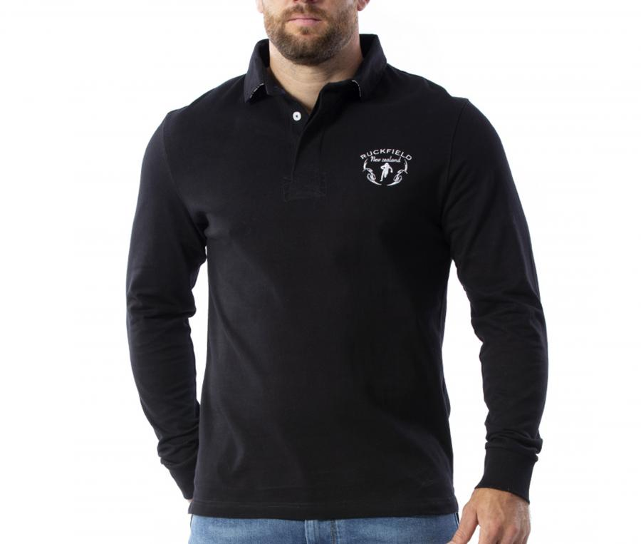 Polo Manches Longues Ruckfield Noir