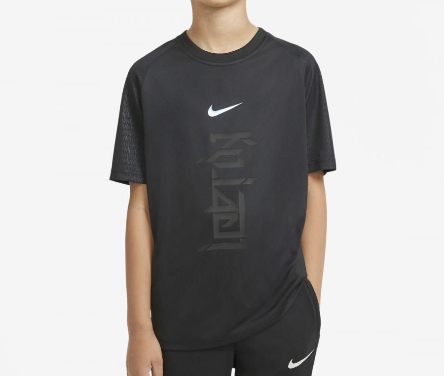 T-shirt Nike Kylian Mbappé Noir Junior