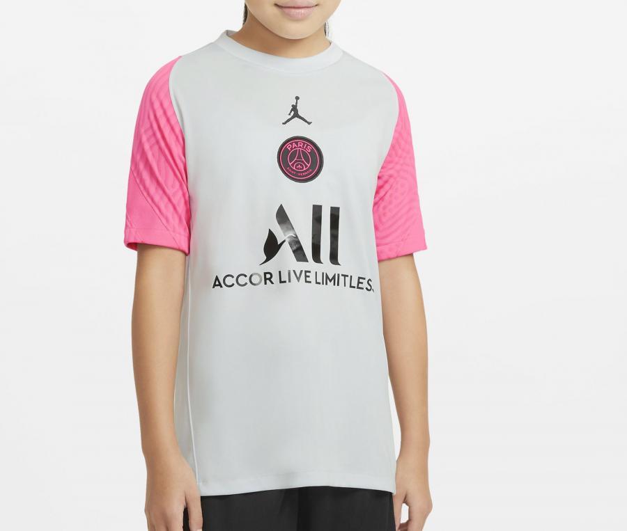 Maillot Entraînement Jordan x PSG Strike Blanc/Rose Junior