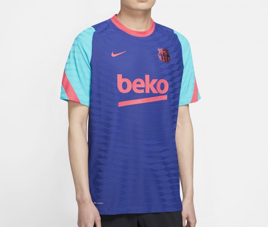 Maillot Entraînement Barça VaporKnit Strike Bleu