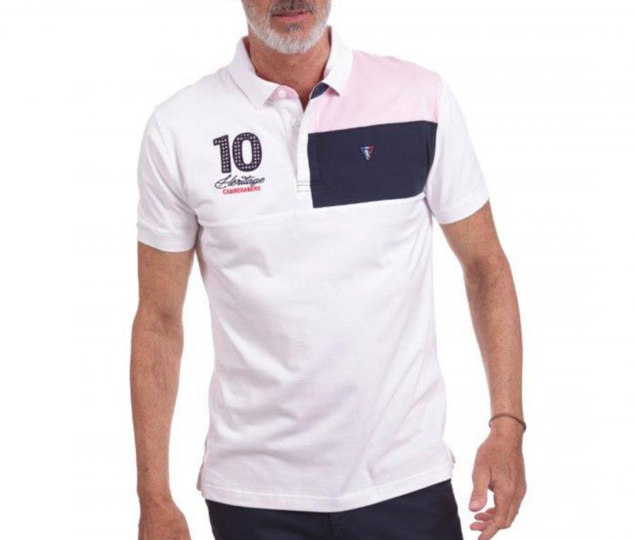 Polo Camberabero Héritage Blanc