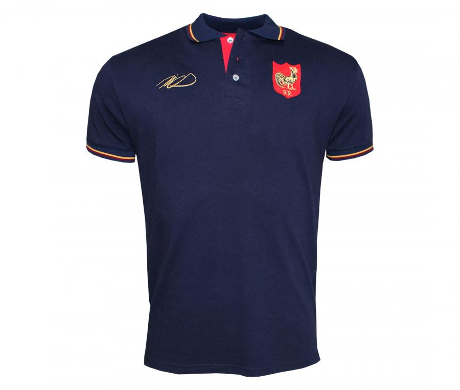 Polo Religion Rugby Douce France Jean-Pierre Rives Bleu