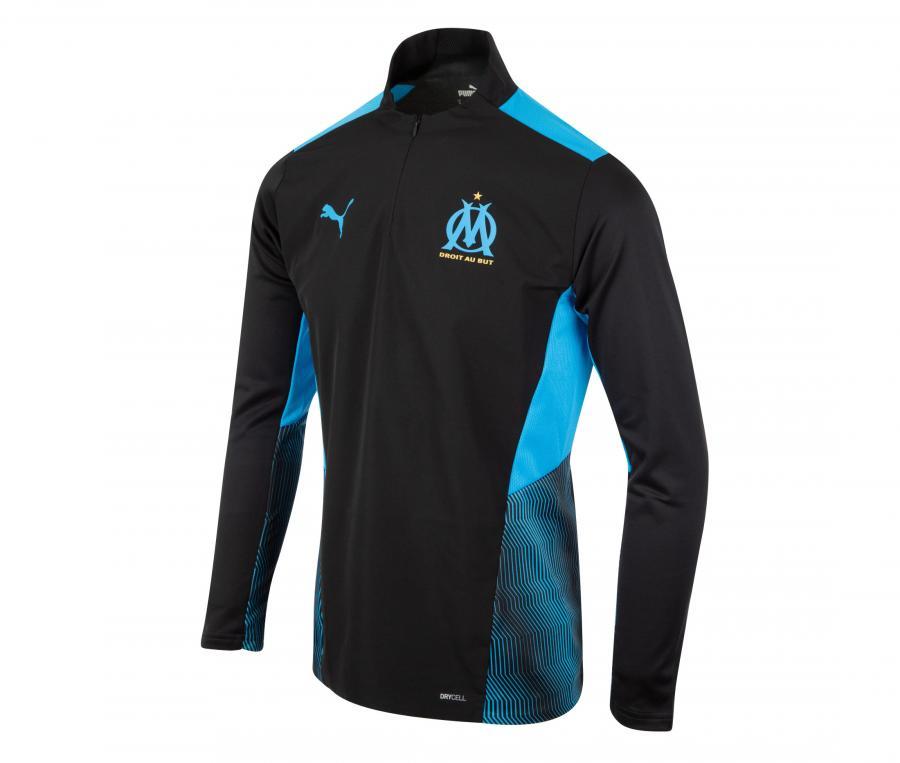 OM Pro OM Quarter Zip Men's Football Top Black/Blue