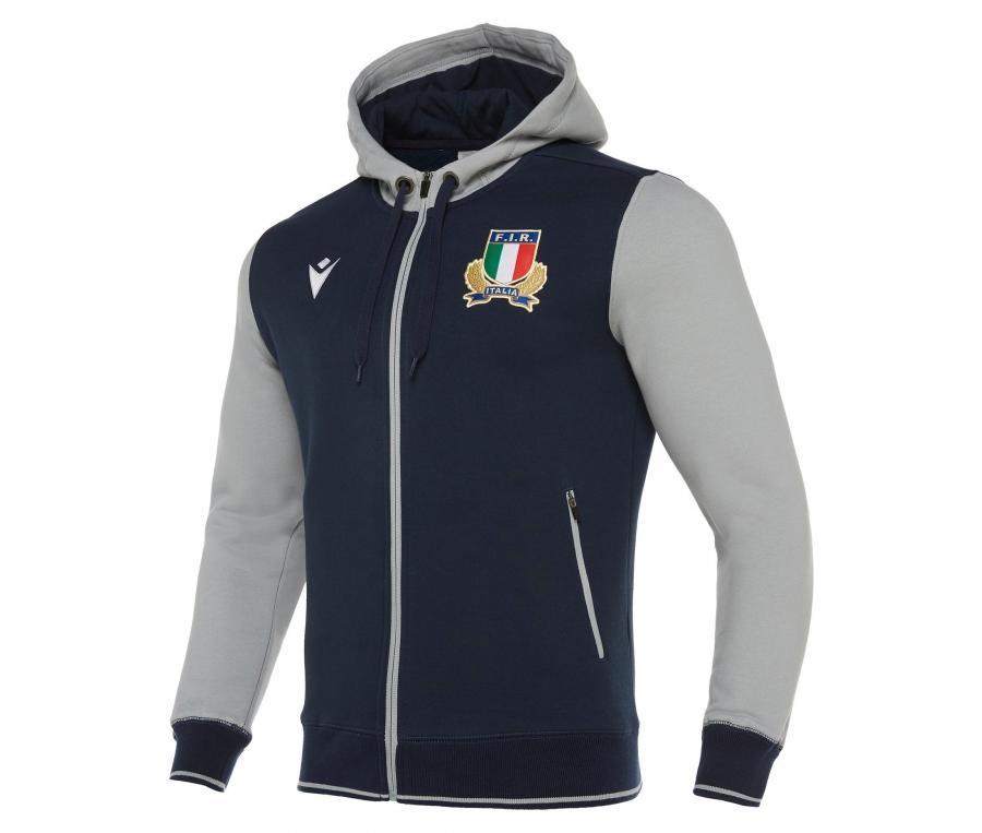 Veste à capuche Italie Bleu/Gris
