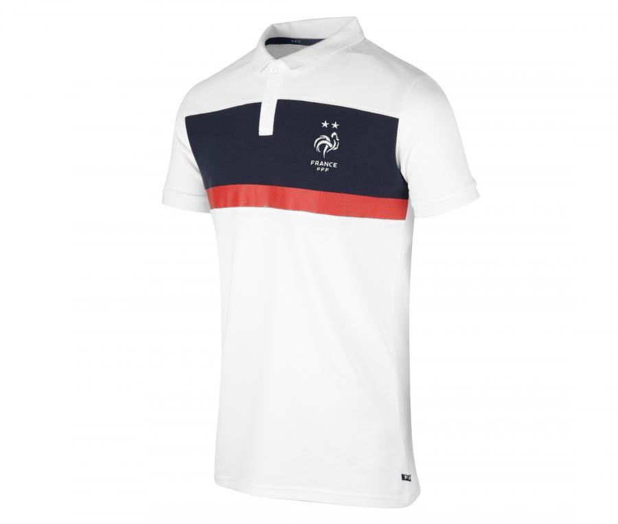Polo France Fan Blanc