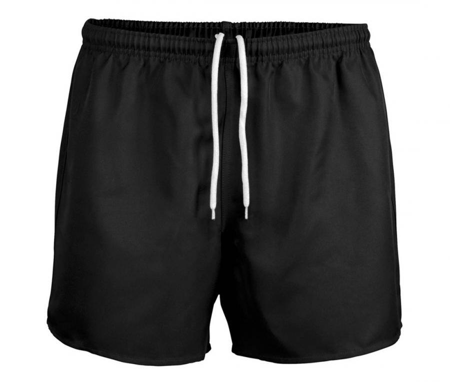 Short rugby sans poche Junior noir