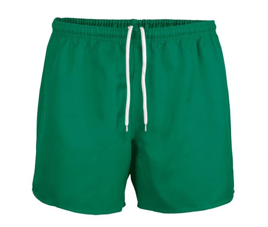 Short rugby sans poche Junior vert