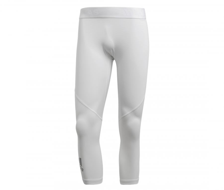 Collant 3/4 adidas Alphaskin Blanc