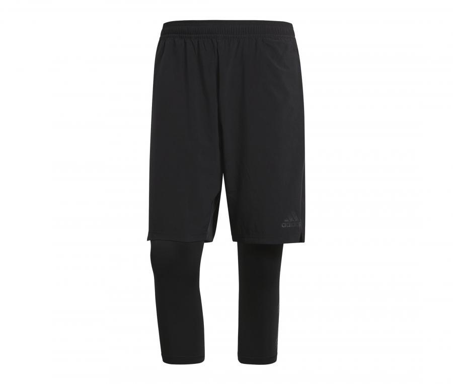 Short avec collant 3/4 adidas Tango Noir