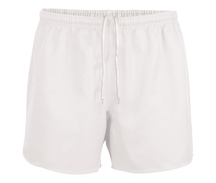 Short de rugby sans poche blanc