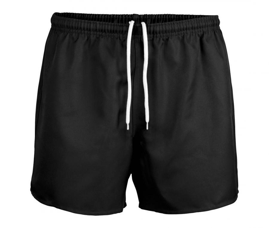 Short de rugby sans poche noir