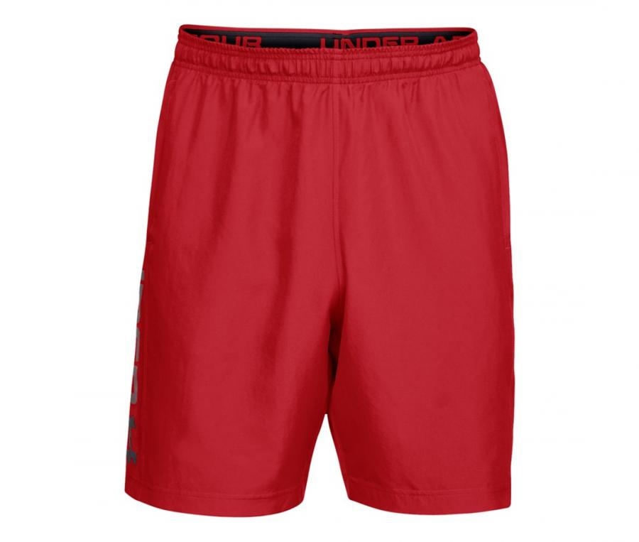 Short Under Armour Woven Graphic Wordmark Rouge