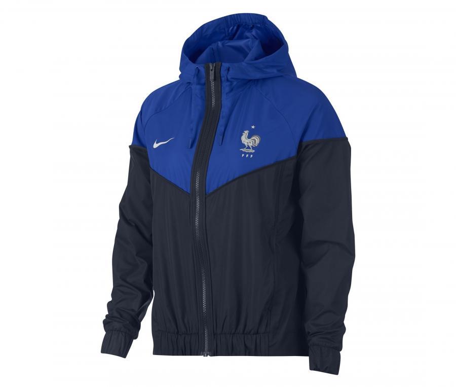 Veste à capuche FFF Nike Windrunner Bleu Femme