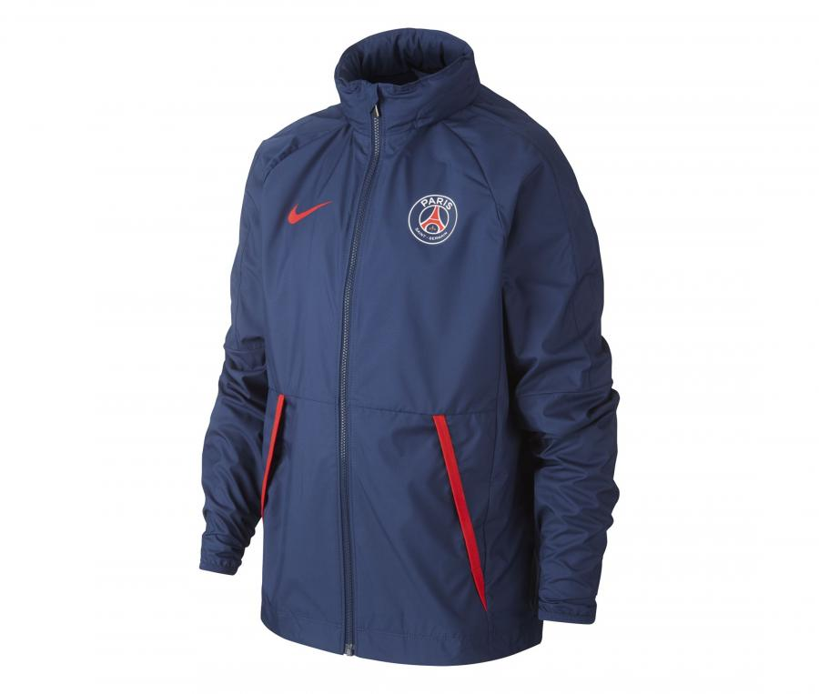 Veste à capuche PSG AWF Lite Bleu Junior