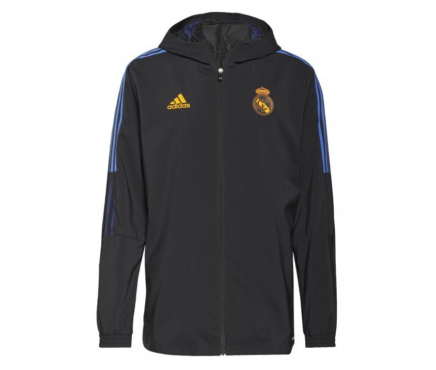 Veste à capuche Présentation Real Madrid Noir