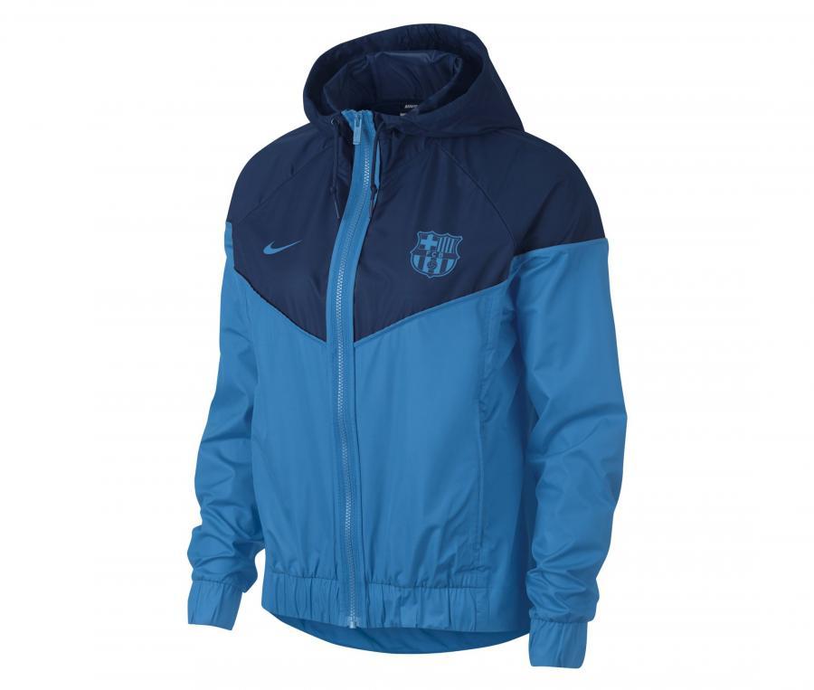 Veste à capuche Barça Windrunner Bleu Femme