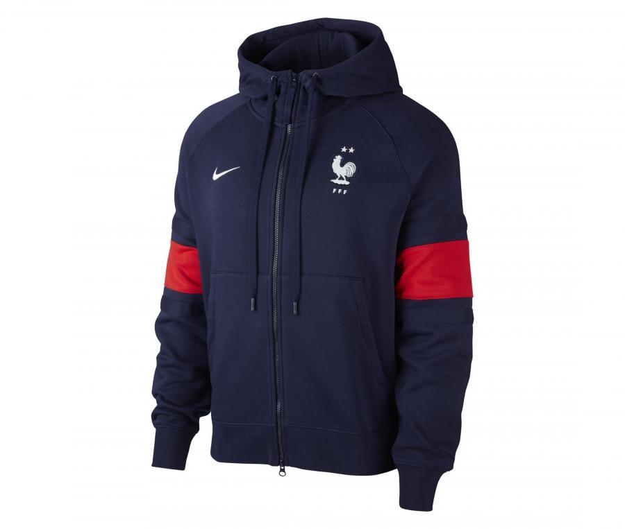 Veste à capuche France Air Fleece Bleu