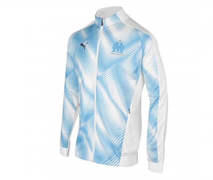 OM Stadium Kid's Jacket White/Blue