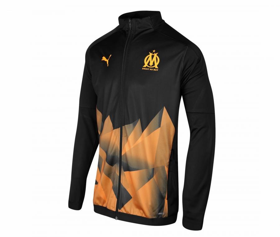 OM Stadium Men's Jacket Black