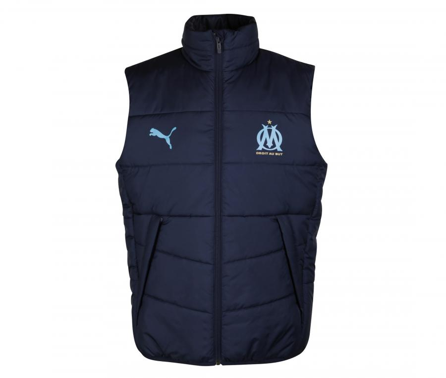 OM Casuals Men's Sleeveless Jacket Blue