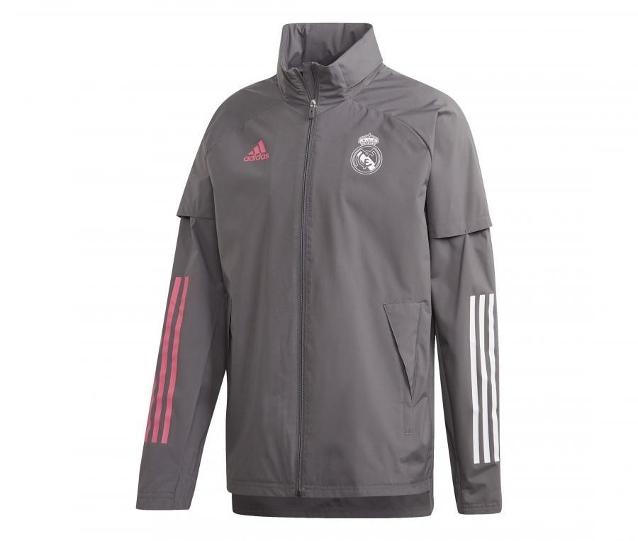 Veste à capuche Real Madrid All Weather Gris