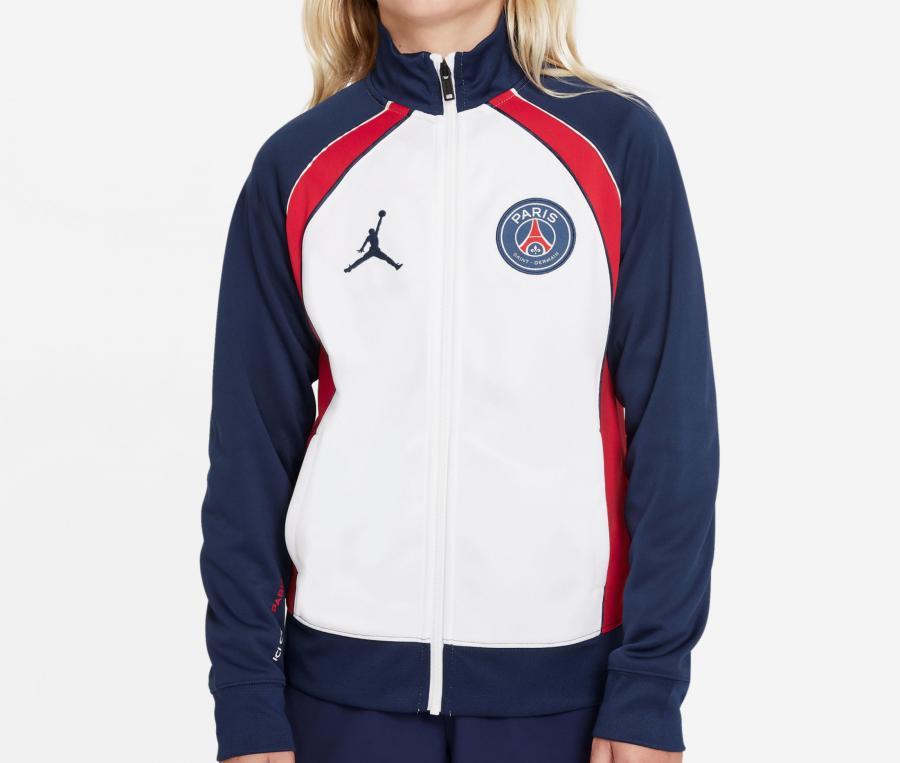 Veste Jordan x PSG Anthem Blanc/Bleu Junior