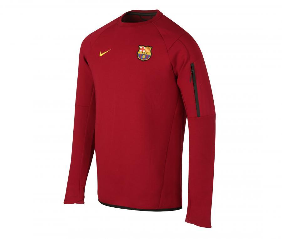 Sweat Entraînement Barça Rouge