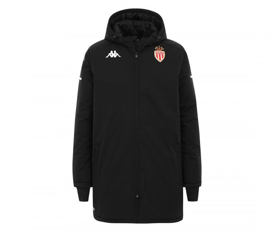Doudoune à capuche AS Monaco Arminzip Pro 4 Noir
