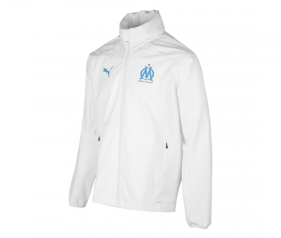 OM Men's Hooded Jacket Rain White
