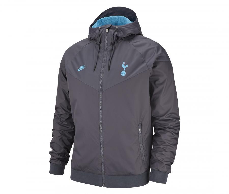 Veste à capuche Tottenham Windrunner Gris