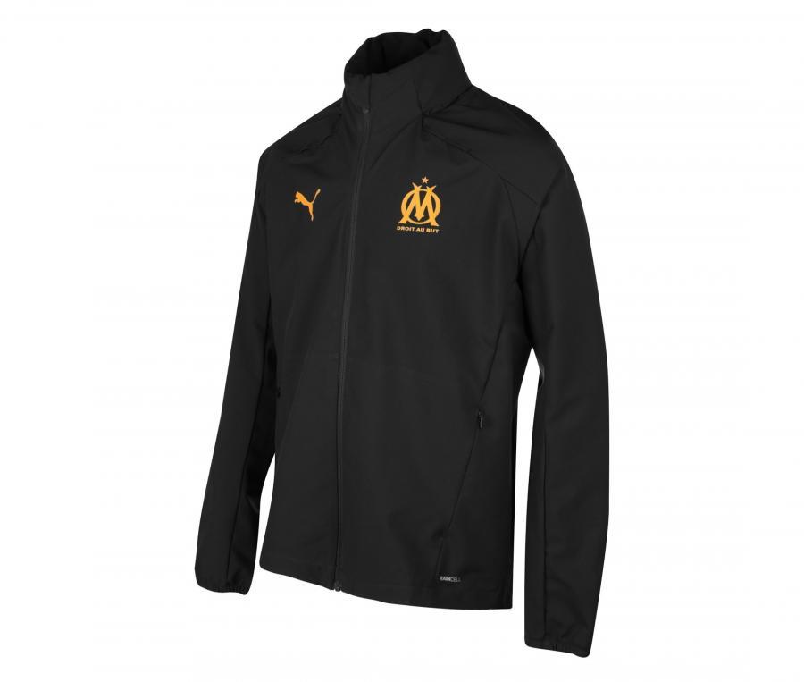 OM Men's Hooded Jacket Rain Black