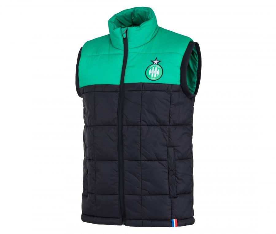 Doudoune sans manche AS Saint-Etienne Noir/Vert
