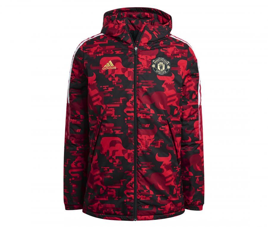 Veste à capuche Manchester United CNY Padded Noir/Rouge