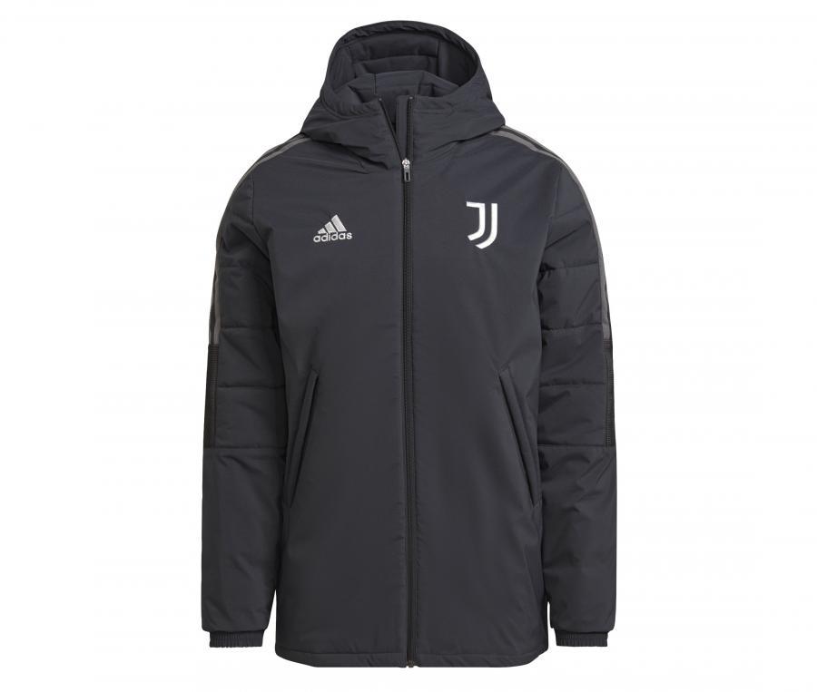Doudoune à capuche Juventus Noir