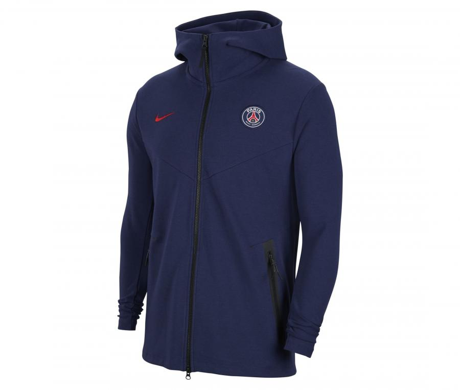 Veste à capuche PSG Tech Pack Bleu